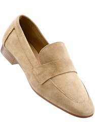 Mocassins en cuir, bpc selection, beige clair