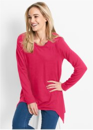 Sweat-shirt finition base en pointes manches longues, bpc bonprix collection