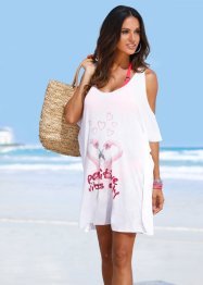 T-shirt de plage, bpc selection, blanc perroquet