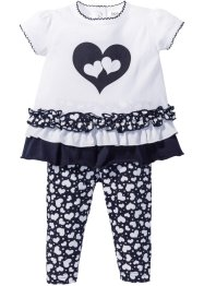 T-shirt bébé + legging (Ens. 2 pces.) en coton bio, bpc bonprix collection