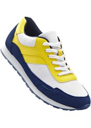 Sneakers, bpc bonprix collection, bleu nuit/jaune citron/blanc