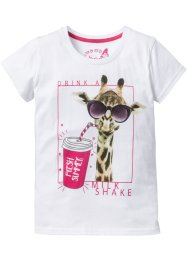 T-shirt à imprimé girafe, bpc bonprix collection, blanc