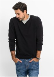 Pull Regular Fit, bpc bonprix collection, noir