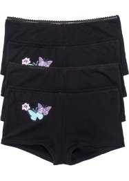 Lot de 4 shorties, bpc bonprix collection, noir imprimé