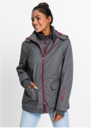 Veste fonctionnelle outdoor, bpc bonprix collection, gris ardoise