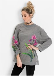 Sweat-shirt, RAINBOW, gris chiné imprimé