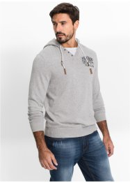 Pull à capuche Regular Fit, John Baner JEANSWEAR, gris clair chiné