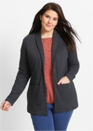 Blazer long, bpc bonprix collection, noir