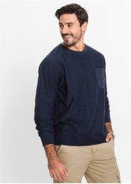Sweat-shirt Regular Fit, bpc bonprix collection, bleu foncé
