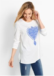 T-shirt - designed by Maite Kelly, bpc bonprix collection, blanc/bleu glacier
