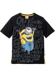 T-shirt MINIONS, Despicable Me_TV-Mania, noir