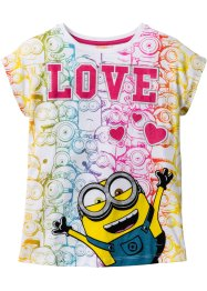 T-shirt MINIONS, Despicable Me_TV-Mania, blanc imprimé