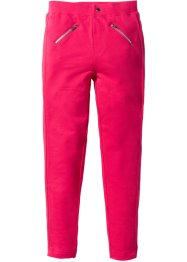 Pantalon extensible avec zips, bpc bonprix collection, rose hibiscus