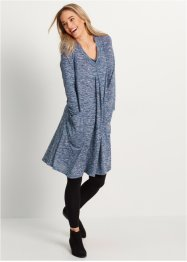 Robe manches longues, bpc bonprix collection, indigo chiné