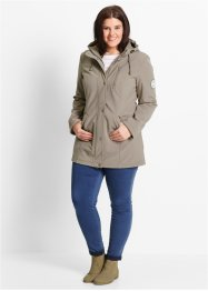 Parka longue softshell, bpc bonprix collection, taupe