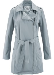 Veste biker softshell, bpc bonprix collection, gris argent