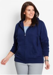 Gilet sweat, bpc bonprix collection, bleu nuit