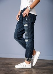 Jean destroyed boyfriend, RAINBOW, dark denim