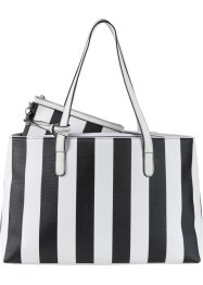 Shopper Rayures, bpc bonprix collection, noir/blanc