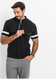 Polo Regular Fit, bpc bonprix collection, noir/blanc