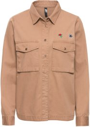 Chemise Army avec écussons, RAINBOW, camel used