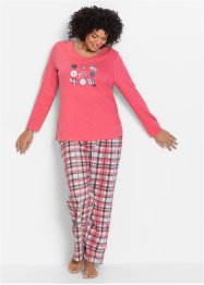 Pyjama, bpc bonprix collection, fuchsia clair imprimé