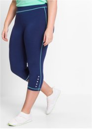 Legging fonctionnel longueur 3/4, bpc bonprix collection, bleu nuit chiné