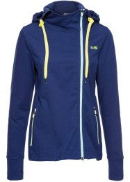 Gilet sweat-shirt long, bpc bonprix collection, bleu nuit