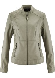 Veste synthétique imitation cuir, bpc bonprix collection, new kaki