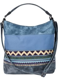 Shopper denim ethno, bpc bonprix collection, bleu jean