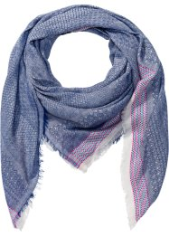Foulard avec bordure excentrique, bpc bonprix collection, bleu/rose