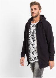 Gilet sweat-shirt long Slim Fit, RAINBOW, noir