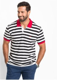 Polo rayé Regular Fit, bpc selection, noir/blanc rayé