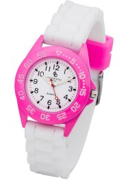 Montre enfant, bpc bonprix collection, rose/blanc