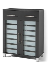 Armoire 2 portes et 2 tiroirs Ted, bpc living, anthracite