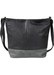 Shopper bicolore medium, bpc bonprix collection, noir/gris