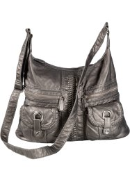 Sac à bandoulière avec ornements, bpc bonprix collection, gris
