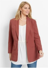 Blazer long ample, manches longues, bpc bonprix collection, marron marsala