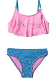 Bikini fille (Ens. 2 pces.), bpc bonprix collection, turquoise/rose