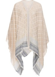Poncho fin, bpc bonprix collection, beige/gris