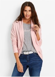 Cardigan sweat, bpc bonprix collection, rose perlé