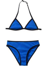 Bikini fille (Ens. 2 pces.), bpc bonprix collection, bleu/noir