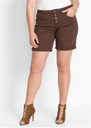 Bermuda extensible, BODYFLIRT, marron