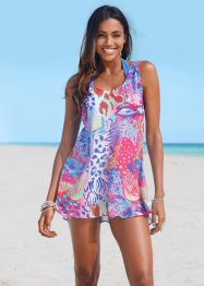 Top de plage, bpc selection, fuchsia/bleu