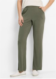 Pantalon en jersey extensible, bpc bonprix collection, olive foncé