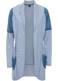 Gilet sweat-shirt, BODYFLIRT, bleu/blanc cassé chiné
