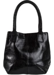 Sac à main en cuir Metallic, bpc bonprix collection, noir métallique