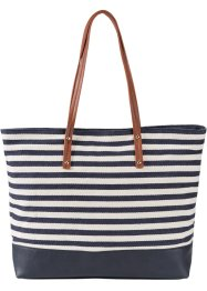 Shopper Marin, bpc bonprix collection, bleu/crème