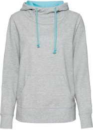 Sweat-shirt, RAINBOW, gris clair chiné/bleu ciel
