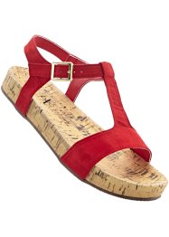 Sandales, bpc bonprix collection, rouge
